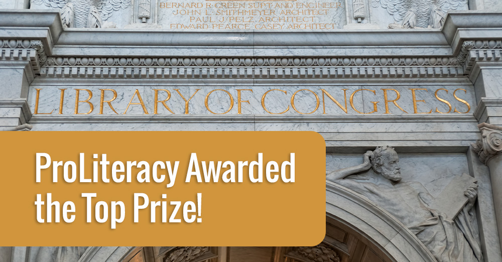 ProLiteracy has been selected as the recipient of the 2019 David M. Rubenstein Prize of the Library of Congress Literacy Awards Program.