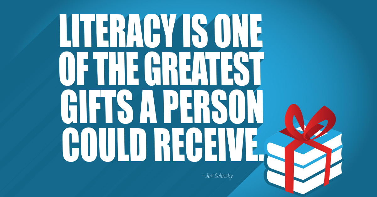 December literacy quote and wallpaper