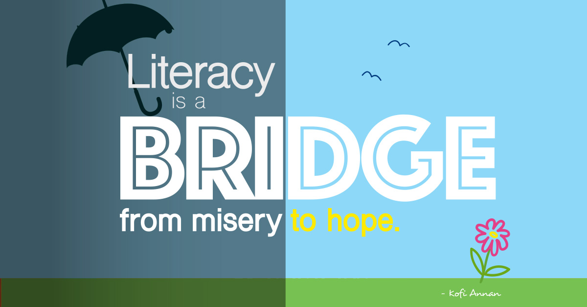 March literacy quote and wallpaper