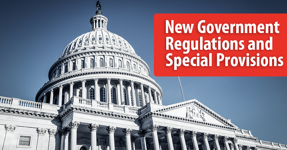 New Government Regulations and Provisions