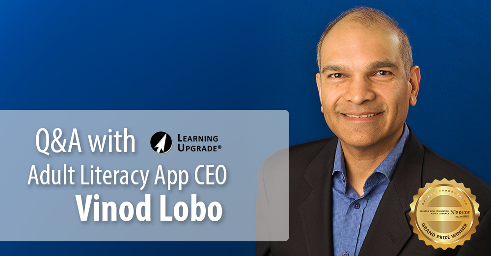 Q&A with Adult Literacy App CEO Vinod Lobo