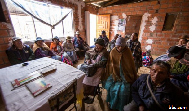 Adult literacy class in Bolivia