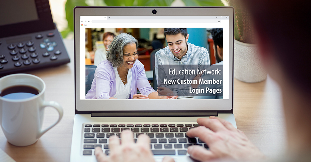 Education Network Custom Member Login Page