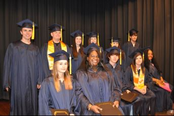 GLAD adult learners during a graduation ceremony.