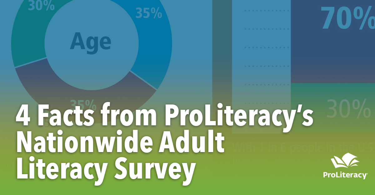 4 Facts from ProLiteracy's Nationwide Adult Literacy Survey