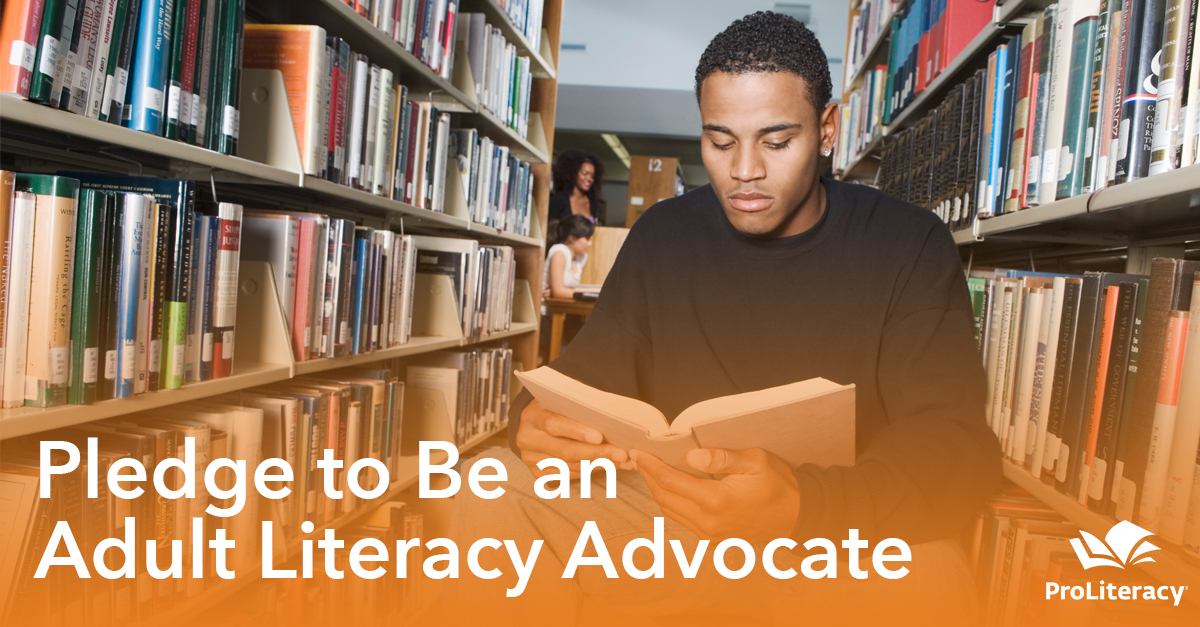Pledge to Be an Adult Literacy Advocate