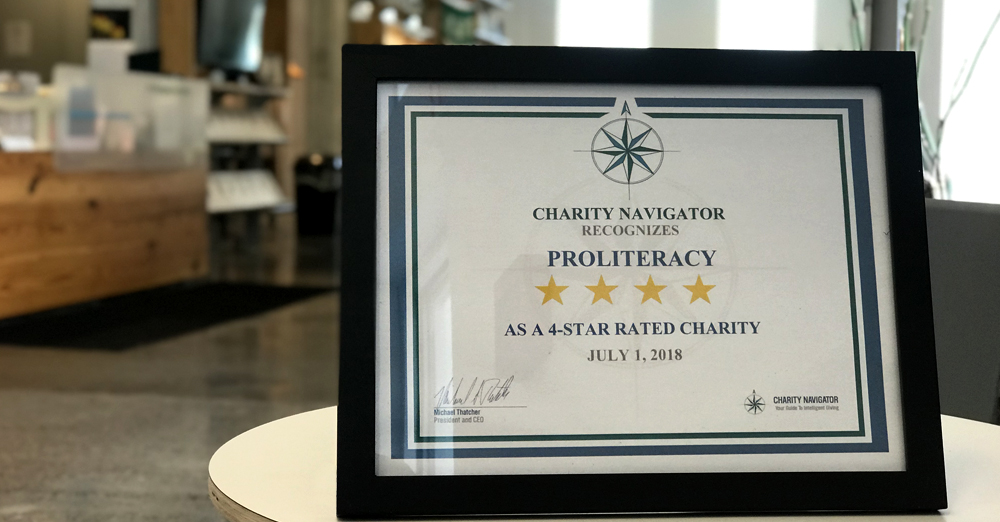 ProLiteracy Earns Second Consecutive 4-Star Rating from Charity Navigator
