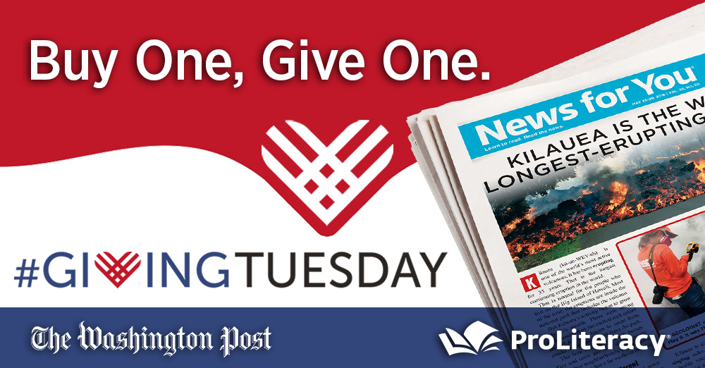 ProLiteracy and the Washington Post Giving Tuesday partnership