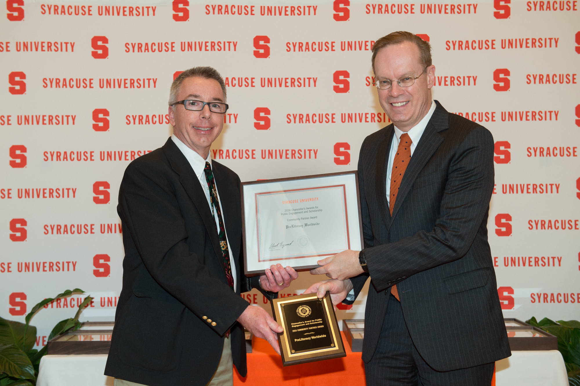 Syracuse University Honors ProLiteracy With 2016 Community Partner Award