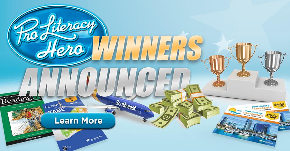 Winners Announced in ProLiteracy's Global Literacy Hero Contest