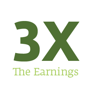 3 Times the Earnings