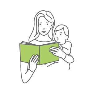 Literacy Mother Reading Icon