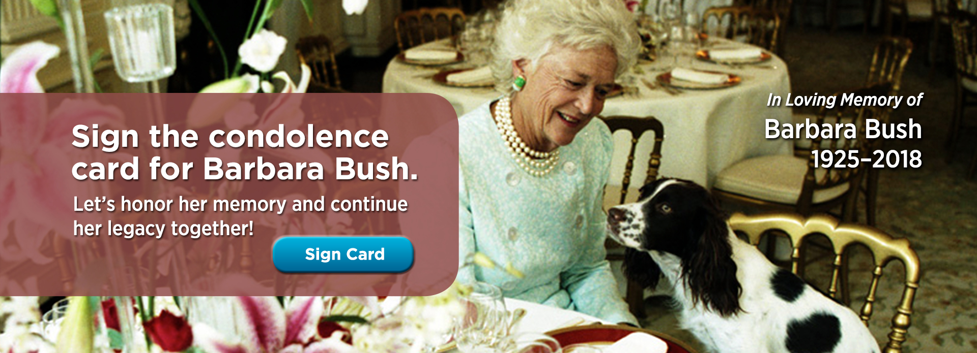 Honoring Barbara Bush