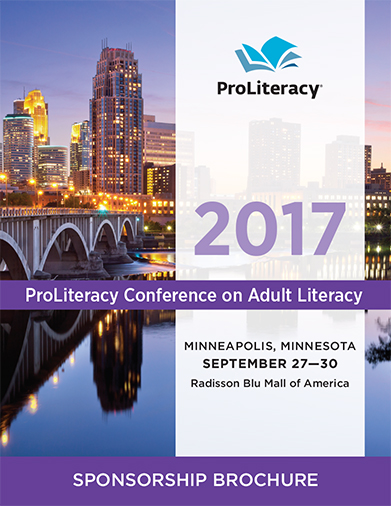 ProLiteracy Conference on Adult Literacy Sponsorship Brochure