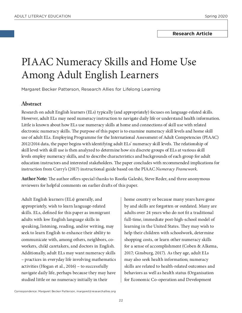 ALE Research Journal - ProLiteracy