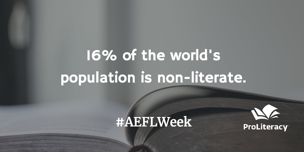 16% of the world's population is non-literate.