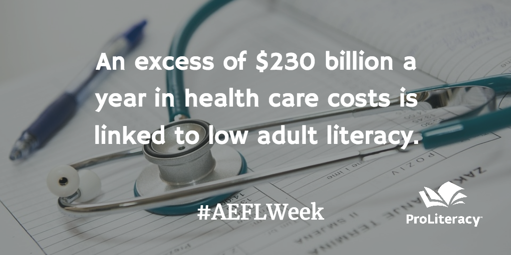 An excess of $230 billion a year in health care costs is linked to low adult literacy.